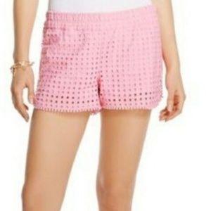 Lilly Pulitzer Target Eyelet Shorts Vacation Pink